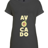 N47 Women's Bamboo Rolled Sleeve Tunic T-shirt Avocado