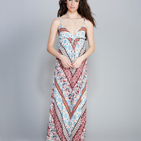 Ethereal Retro Print Maxi Dress | Wet Seal