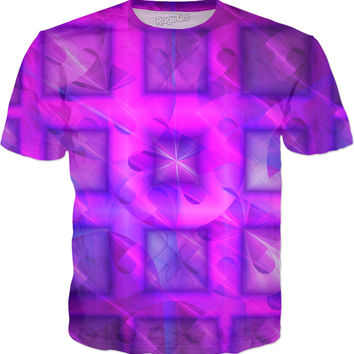 Shiny Square Buttons | Fractal Clothes | Rave & Festival Shirt