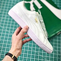 Puma Basket Classic Patent Leather Blue Sneakers - Best Online Sale