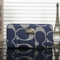 "shosouvenir""COACH""Zipper Women Leather Purse Wallet"