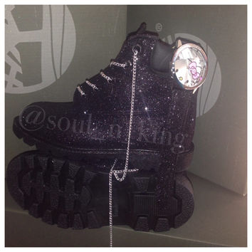 black glitter timberlands