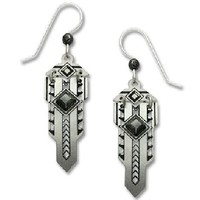 Adajio by Sienna Sky Metal Art Deco Style 'Sword' Earrings 7617