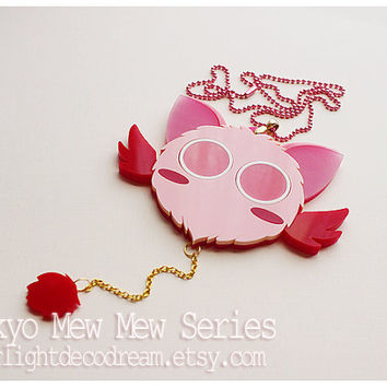 MADE to ORDER MASHA Tokyo Mew Mew Inspired Acrylic Necklace for Mahou Kei, Magical Girl Fashion