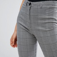 New Look Check Cropped Trousers at asos.com