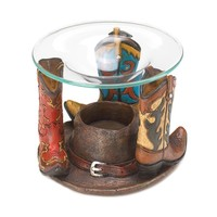 Cowboy Boots Oil Warmer