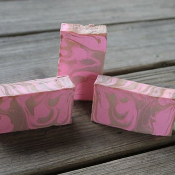 pink and gold party favors - pink and gold birthday - pink and gold baby shower - baby shower favors - lye soap, cold process soap, bar soap