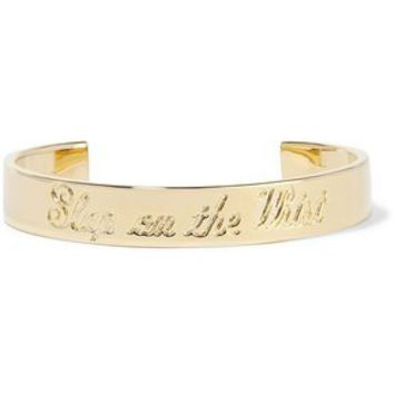 Slap On The Wrist gold-tone cuff | ELIZABETH AND JAMES | Sale up to 70% off | THE OUTNET