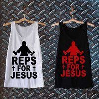 reps forreps for jesus best customized design for Tank top Mens and Tank top Girls , sizes S - XXL