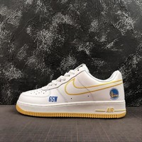 """Nike Air Force 1 AF1 Low """"GSW"""" White/Royal/Yellow - Best Online Sale"""