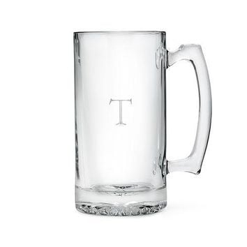 Etched Glass 25 oz Beer Mug (Pack of 1)