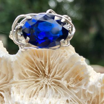 Sapphire blue Spinel Ring
