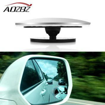 1Pcs HD Car Rear View Mirror 360 Degree Rotating Wide Angle Blind Spot Mirror Round Convex Parking Mirror Auto Accessory
