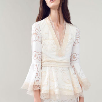 Alexis Alexina Lace Top in Pearl White