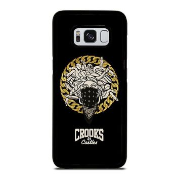 CROOKS AND CASTLES BANDANA Samsung Galaxy S3 S4 S5 S6 S7 Edge S8 Plus, Note 3 4 5 8 Case Cover