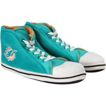 Miami Dolphins Men's Official NFL Puffy Sneaker Slipper
