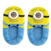 Win8Fong Despicable Me Plush Soft Minion Shoes Slippers Stewart One-eyed Minion 11""
