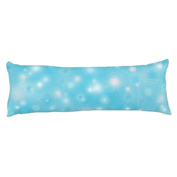 Holiday snowflakes white blue winter Body pillow