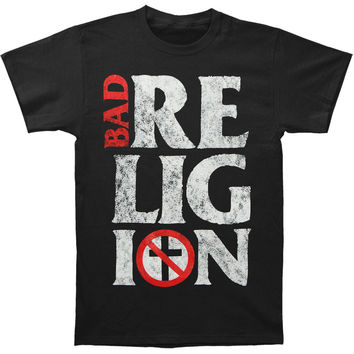 Bad Religion Men's  Stacked Logo T-shirt Black Rockabilia