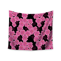 "Julia Grifol ""Pink on Black"" Wall Tapestry"
