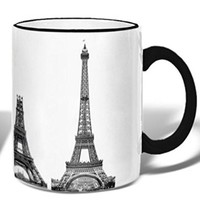 Vintage Eiffel Tower Construction - Ceramic Coffee Tea Mug - 11-oz