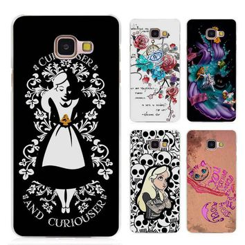 Hot sale Alice in Wonderland punk Clear Case Cover Coque Shell for Samsung Galaxy A3 A5 A7 A8 2016 2017 A9 Pro