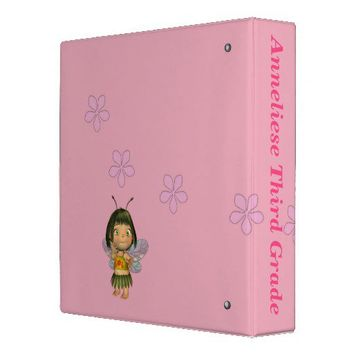 Personalized Grade School Girl Memory Binder from Zazzle.com