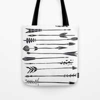 Narrow Boho Arrows Tote Bag by All Is One
