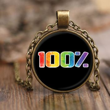 LGBT Necklace by Living Gay | 100% Gay Pride Necklace