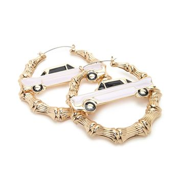 Car Hoop Earrings