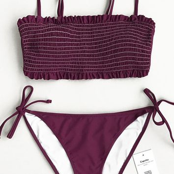 Cupshe Violet Dream Solid Bikini Set