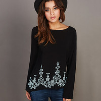 Embroidered Open-Back Tunic | Wet Seal