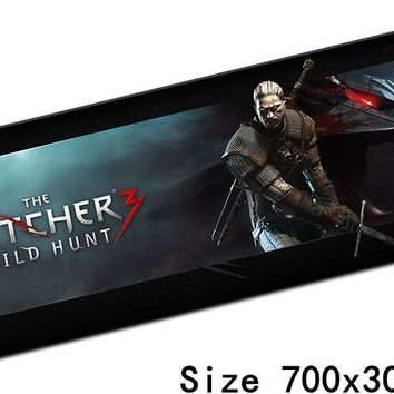 witcher mouse pad best 700x300mm cute gaming mousepad gamer mouse mat locrkand pad keyboard computer padmouse laptop play mats