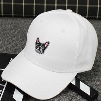 French Bulldog Face - Embroidered Cute, Graphic, Cool Baseball Cap - Sports & Leisure Hat