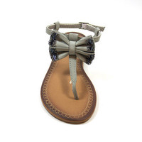 Anna Shoes: Bow Sandal Gray, at 55% off!