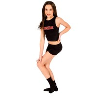 High Neck Fitted Tank in Black   ALDC