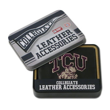 Texas Christian Horned Frogs  Embroidered Billfold Wallet