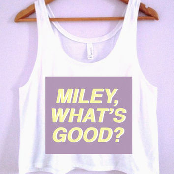 """Miley, What's Good?"" -Nicki Minaj VMAS Crop-Top 