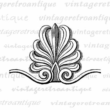 Printable Antique Design Element Graphic Download Ornament Digital Emblem Image Vintage Clip Art Jpg Png Eps  HQ 300dpi No.655
