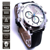 Waterproof 12MP Full HD 1080P SPY Watch Camera Night Vision DVR Mini DV video recorder camcorder 16GB H8 [9325201156]