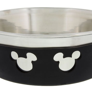 Disney Parks Mickey Icon Silicone on Metal Small Pet Bowl New