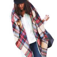 Exclusive Sale Imitation Cashmere Design Plaid Blanket Scarf by More Stuff I Like