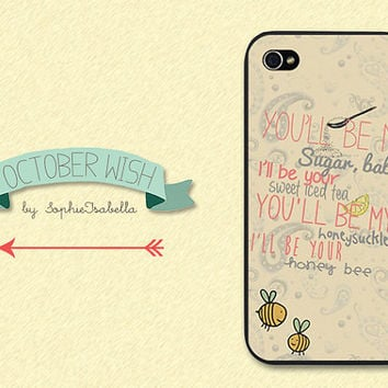 Honey Bee iPhone 4/4S/5 Case by OctoberWish on Etsy