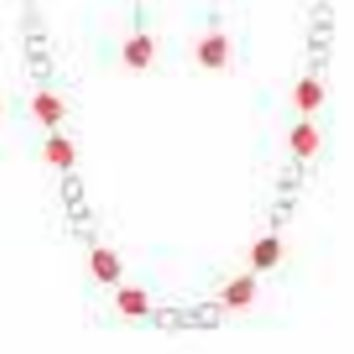 Bedrock Bounty Orange Paparazzi Necklace