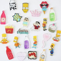Creative cute cartoon Simpson fruit bottle refrigerator acrylic Fridge Magnets