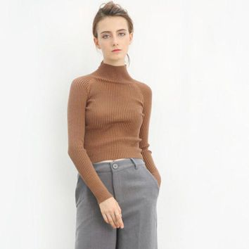 DCCKVQ8 Fashion Long Sleeved Turtleneck Sweater