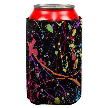 ONETOW Splatter Paint Black All Over Can Cooler