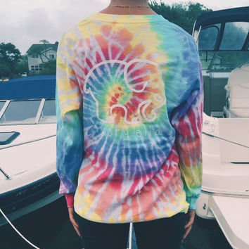 Pocketed Rainbow Tie-Dye Classic Print