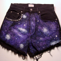 Galaxy Studded Highwaisted Shorts ALL SIZES
