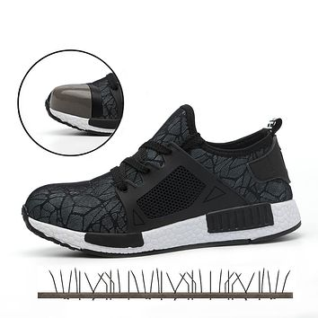 Men's Work Safety Shoes Men Outdoor Footwear Military Combat Rubber Lightweight Ankle Boots Indestructible Shoes Woman Sneakers